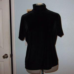 White Stag Size XL Lux Black Velvet Blouse